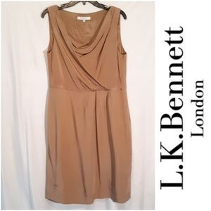 L.K. Bennett Silk Ruched Dress